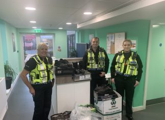 Merseyside British Tramsport police help homeless